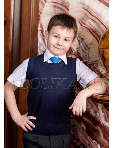 """Жилет для мальчиков темно-синего цвета """"Школьник"""""""