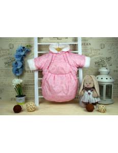 Конверт-мешок для новорожденного розового цвета «Гном», осенний/весенний