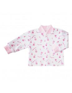 Кофточка розового цвета для малышей с зайчиками